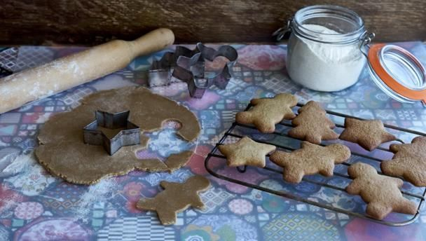 Howard made these gluten-free ginger biscuits to accompany his ginger cheesecakes, cutting out some of the dough into house-shaped biscuits. But the recipe is so good, you'll want to keep a box handy for nibbling.