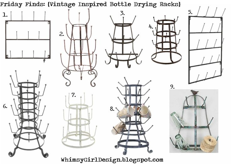 whimsy girl: Friday Finds: vintage inspired, French bottle drying racks with product links