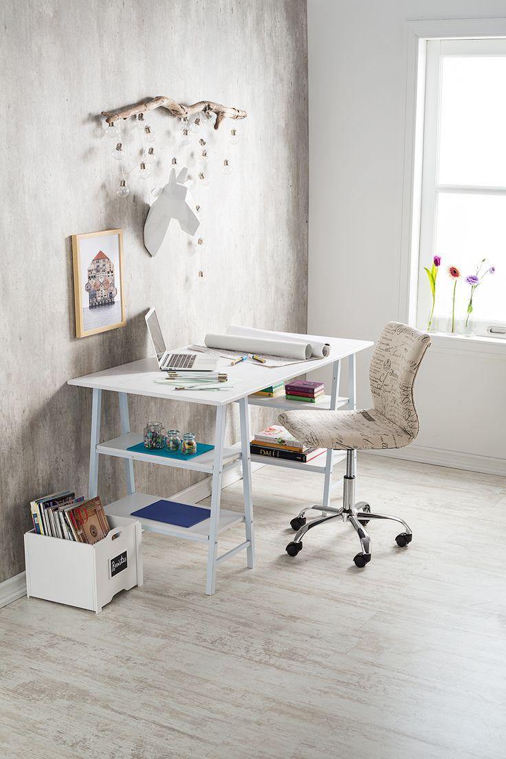 ¿Amante de los tonos claros? Mira esta opción para tu escritorio. #Muebles #Easytienda #Decoración #Combinaciones #Escritorio