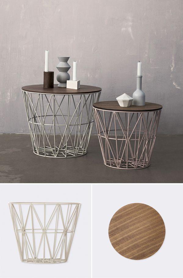 die besten 25 drahtkorb tisch ideen auf pinterest dekorative sofakissen wohnzimmer. Black Bedroom Furniture Sets. Home Design Ideas