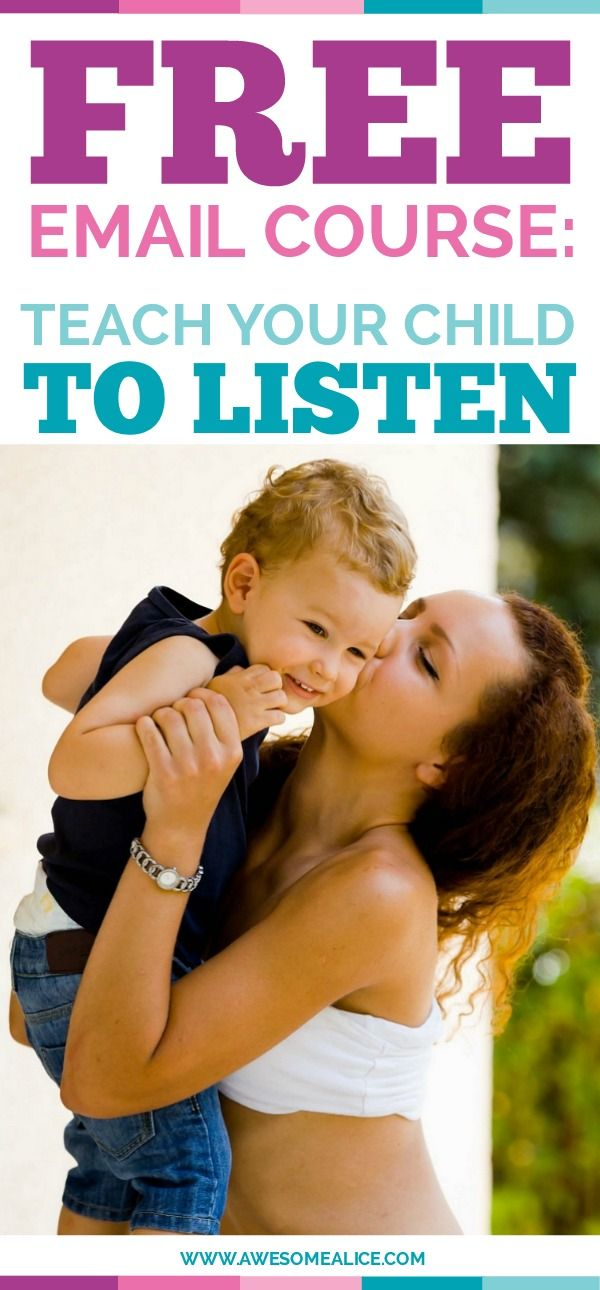 Free parenting email course. If you are struggling with teaching your child to listen, then this free course is for you. Teach your child to listen in 5 days.
