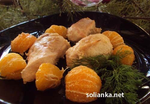 Вкусный и простой рецепт, как готовится курица в соевом соусе с имбирем и мандаринами - подойдет любое мясо и выйдет нарядно!