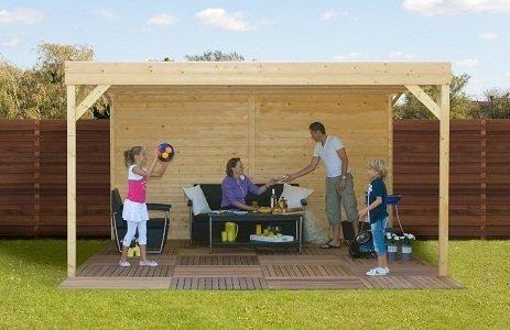 bear county vrijstaande houten terras overkapping hout met  - Maison et décoration - Jardinage - Bear County