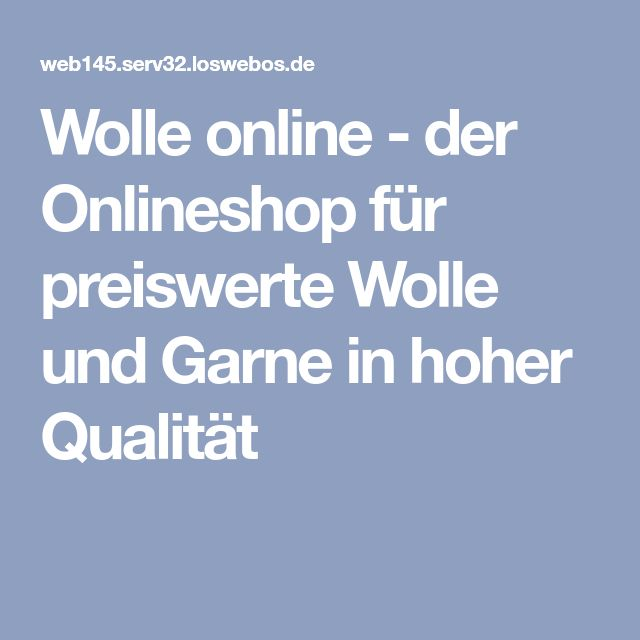 Wolle online - der Onlineshop für preiswerte Wolle und Garne in hoher Qualität
