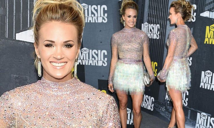 The carpet was rolled out on Wednesday for the CMT Music Awards in Nashville, Tennessee. Carrie Underwood looked incredible in a glittering top and skirt combination.