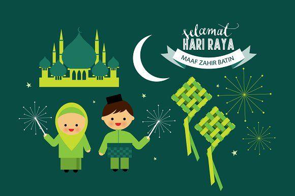 hari raya elements vector by lyeyee on @creativemarket