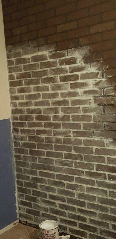 Painting Stone Backsplash
