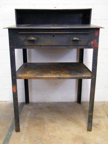 Columbus Architectural Salvage   Industrial Metal Work Station