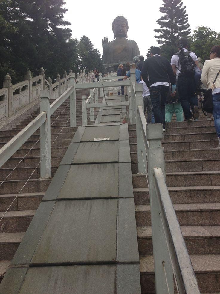 The long walk up to Big Buddah... Lantau