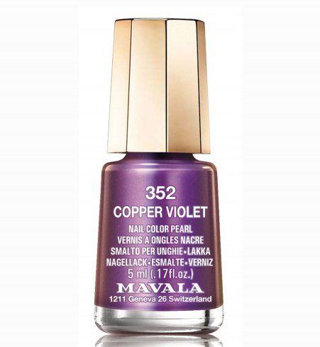 Vernis Mavala Copper Violet Nail Trends 2014 Cosmo.fr