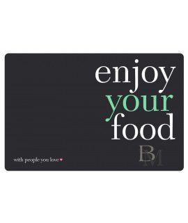 Mata stołowa Enjoy your food czarno zielona