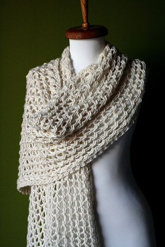 Very simple Stolen Moments Wrap by Amy Swenson.  Find it on Ravelry here: http://www.ravelry.com/patterns/library/stolen-moments-wrap