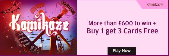 Grab #bingooffers and play like kamikaze.