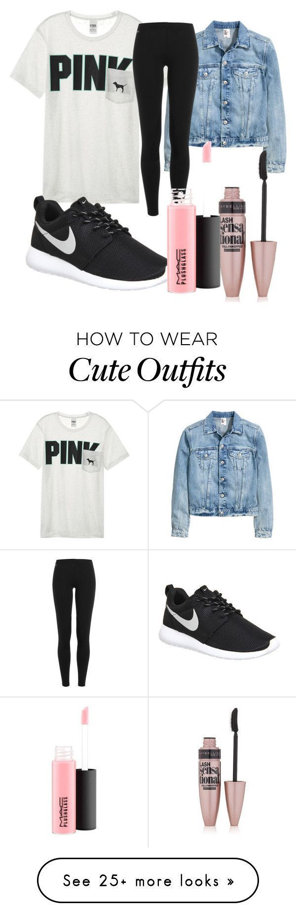 """FIRST DAY OF SCHOOL OUTFIT"" by caraelizabett on Polyvore featuring Victoria's Secret, Polo Ralph Lauren, NIKE, Maybelline and MAC Cosmetics – Outfits"