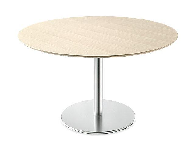 RONDETAFELS_Ronde tafel met blad in houtstructuurop maat waregem
