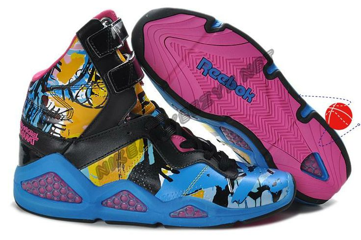Buy Reebok CL Chi-Kaze Basquiat Womens shoes Black Blue Pink Holiday Promotions
