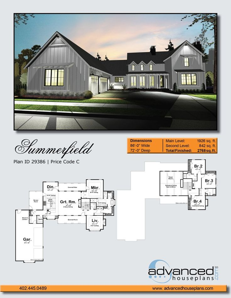 Modern Farmhouse Plans summerfield | farmhouse plans, outdoor living areas and modern