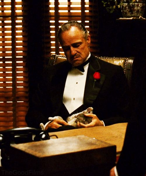 """You come to me, and you say ""Don Corleone, give me justice."" But you don't ask with respect. You don't offer friendship.  You don't even think to call me Godfather."