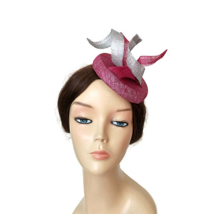 Pink And Silver Fascinator Hats Fascinators Pinterest Wedding