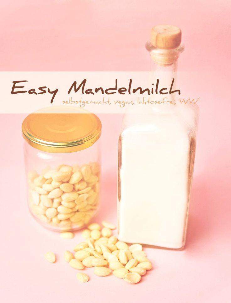 Mandelmilch selber machen ist so einfach wie Zitronen auspressen… fasst so einfach! Jedenalls ist es günstiger als Mandelmilch einzukaufen und es schmeckt!