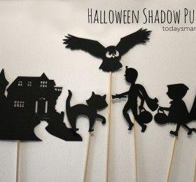Halloween Shadow Puppets Printable