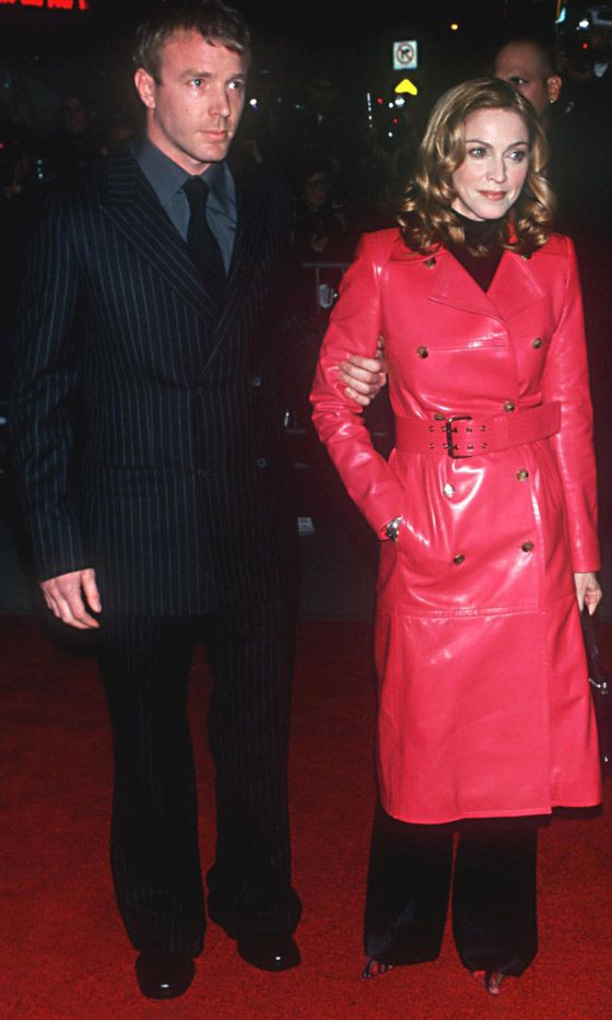 Madonna Goes Girly Glam con Guy Ritchie en el próximo estreno de la película The Best Best Thing en Nueva York, 2000