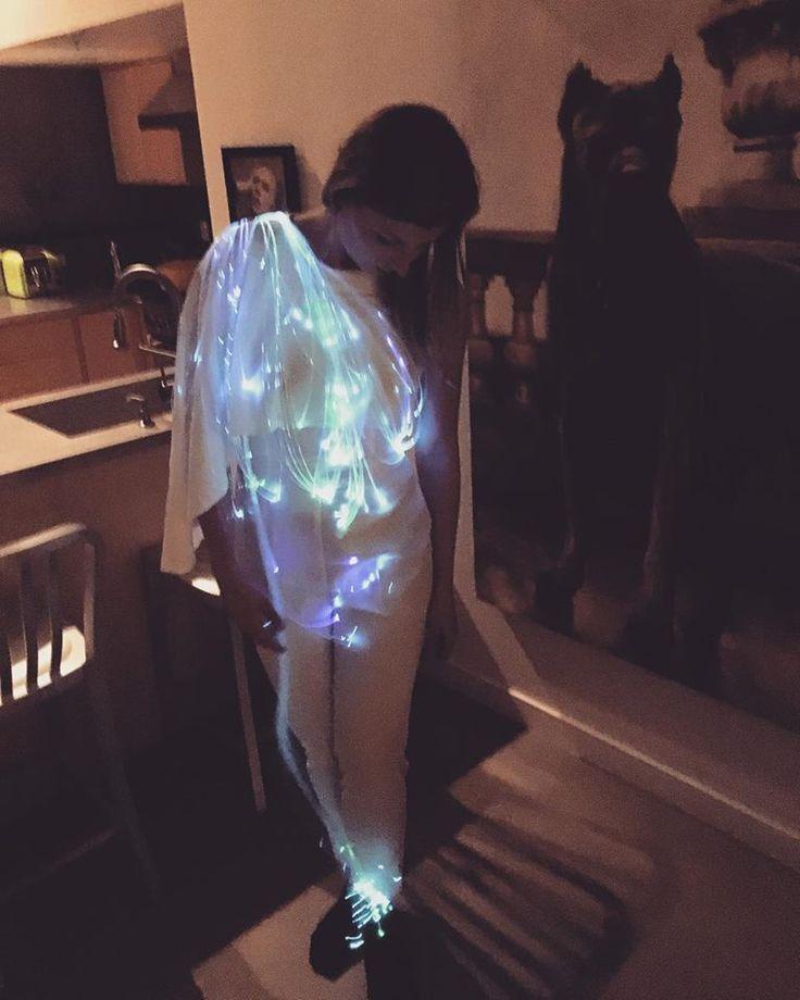 Fiber Optic Galaxy Commander Suit by Chelsea Klukas. #wearabletech #fashiontech #fiberoptics