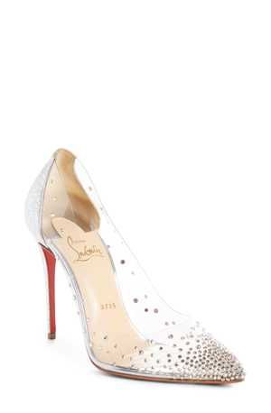 4bc8b91ab266 Christian Louboutin Degrastrass Clear Embellished Pump (Women)