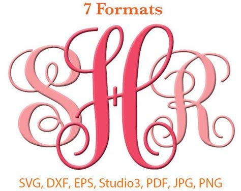 Download Free Monogram Fonts For Cricut svg monogram font twisted ...