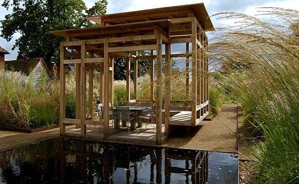 Designed by BHSLA Landscape Architects - the open sided pavilion
