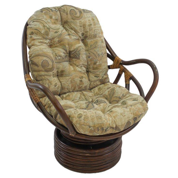 International Caravan Swivel Rocker Chair with Jacquard Chenille Cushion Elysian Fields - 3310-JCH-02