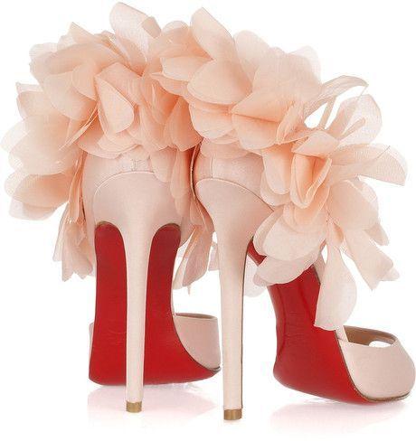 Christian Louboutin/Pink Carnaval 120 Embellished Satin Sandals