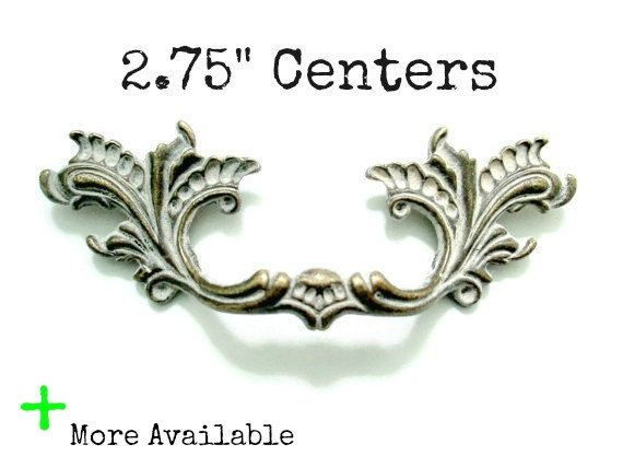 """1 French Provincial drawer pull - 2.75"""" centers  More Available Custom painted furniture handles"""