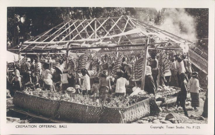 INDONESIA BALI Cremation offering RPPC 1920s | eBay