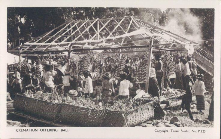INDONESIA BALI Cremation offering RPPC 1920s | eBay