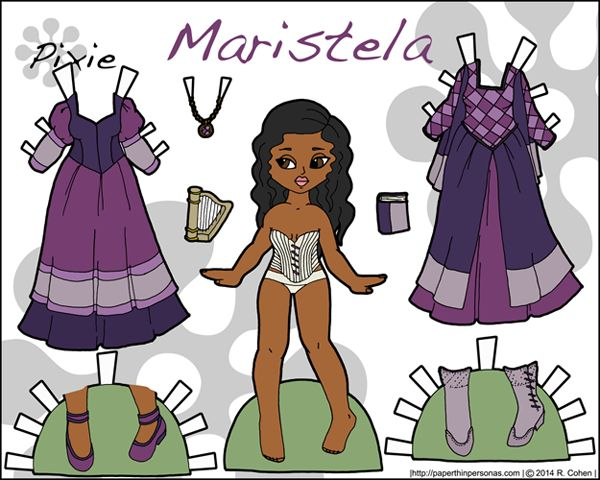 Printable female warrior paper doll in color* 1500 free paper dolls at Arielle Gabriels International Paper Doll Society also free paper dolls at The China Adventures of Arielle Gabriel *