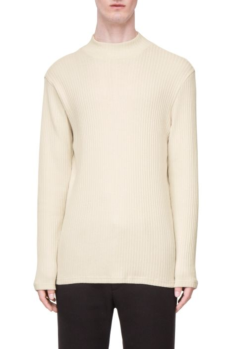 Weekday Boston Rib Turtleneck in White