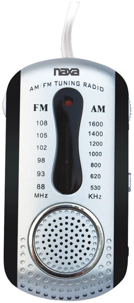 wholesale Naxa - AM/FM Mini Pocket Radio with Speaker (Black) (Case of 5)
