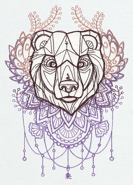 Anima - Bear | Urban Threads: Unique and Awesome Embroidery Designs
