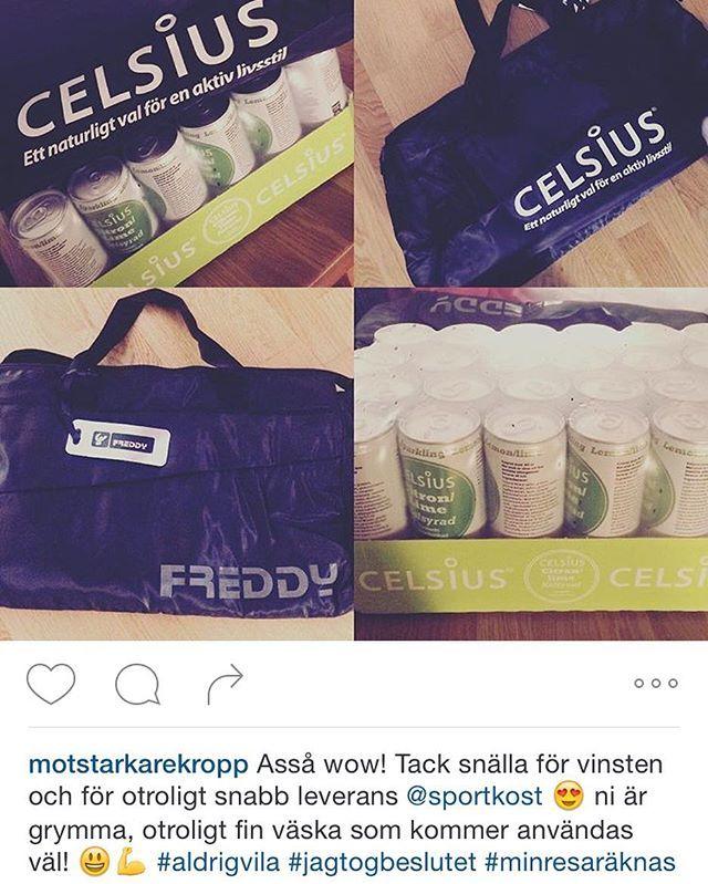 Vill du också ha chans att vinna ett valfritt Celsiusflak + en snygg Freddy väska? Följ då oss på @sportkost och tagga dina bilder och filmer med #sportkost  @motstarkarekropp #celsius #celsiussverige #freddy #wrup #sport #väska #tävling #följ #tagga