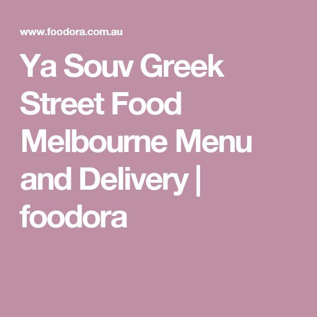 Ya Souv Greek Street Food Melbourne Menu and Delivery | foodora