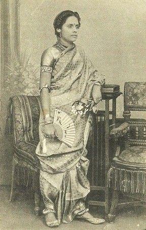 1900's -- Navwari saree (9 yards), Maharashtrian style