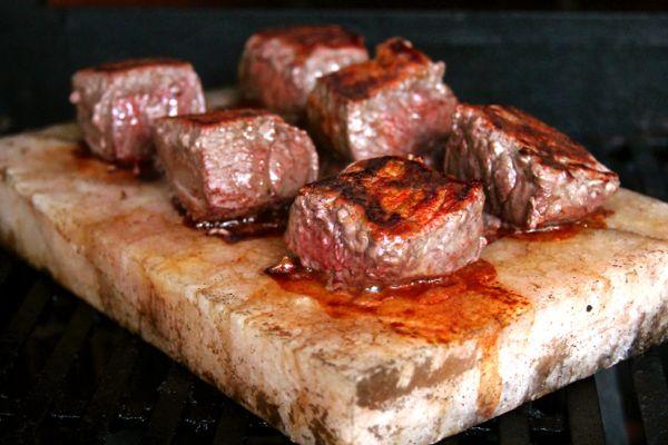 Salt Block Grilled Steak