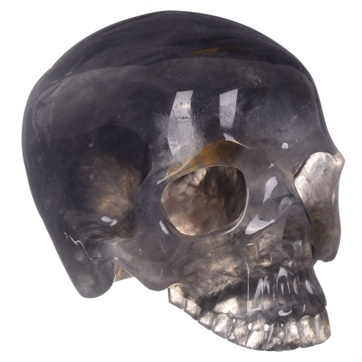 "10"" Natural magic quartz crystal skull carvingt without JAw"