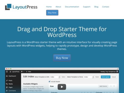 LayoutPress: Drag and Drop Starter Theme for WordPress