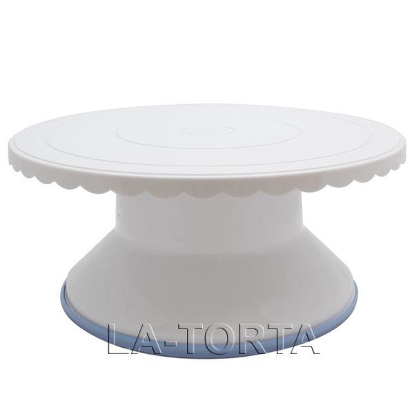 Крутящаяся подставка под торт Подставка является необходимым инструментом для любого кондитера. Она очень удобная в работе, крутящаяся для более комфортного применения при декорировании тортов.  Характеристики: Верхний диаметр - 28см Высота подставки - 12см Материал - пластик Страна-производитель - Китай  http://la-torta.com.ua/product/krutjashajasja-podstavka-pod-tort_xr-12317 #подставка #подставкаподторт #подставкадляторта #крутящаясяподставка