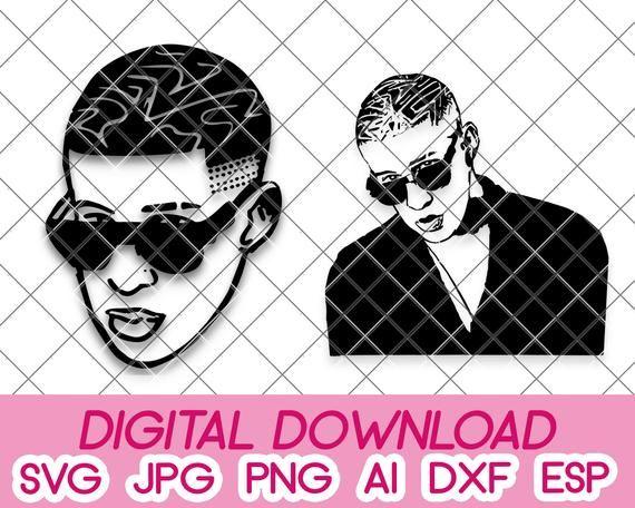 Bundle Bad Bunny Digital Download Dxf Svg Pdf Jpeg Png Eps Etsy In 2020 Dxf Cricut Projects Vinyl Svg