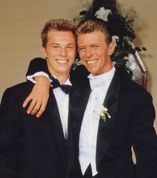 David Bowie and son Duncan Jones (formerly Zowie Bowie)