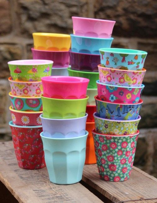 RICE Melamine Pattern Cups