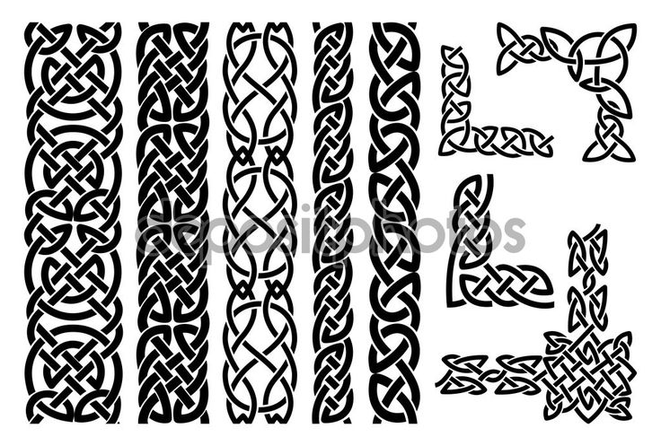 Celtic patterns and celtic ornament corners - Stock Illustration: 63504705